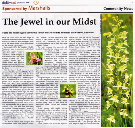 Extract from the Maltby Mail, September 2006 edition