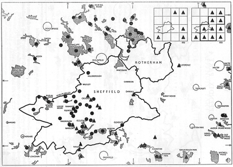The distribution of red and grey squirrels in the Sheffield district (1954-55)