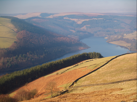Whinstone Lee Fields and the Derwent Valley