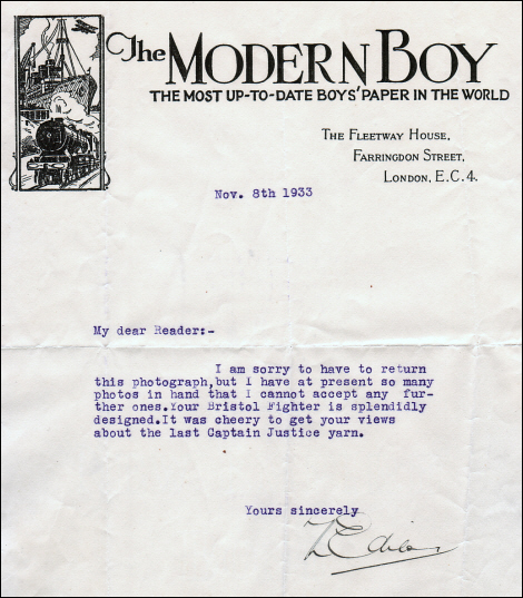 Letter from the Modern Boy