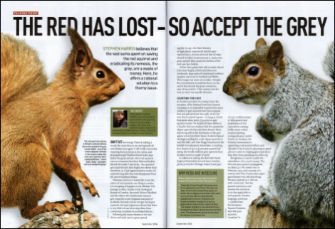 BBC Wildlife Magazine, September 2006